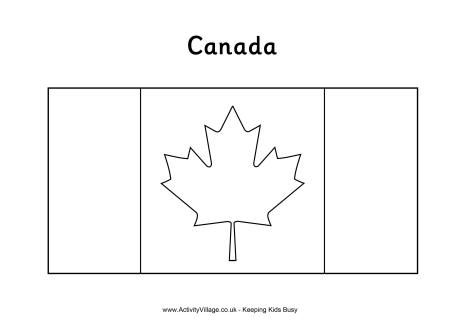 Canadian flag colouring page
