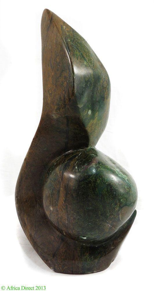 Verdite Shona ABSTRACT Stone Sculpture Zimbabwe African Art SALE WAS $250