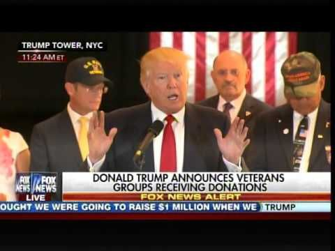 UNREAL! Watch Liberal Media GO AFTER TRUMP - During Presser on Veterans Donations - YouTube