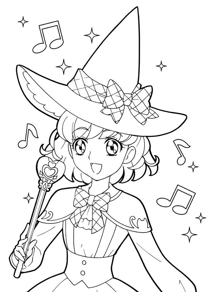 806 besten anime  shojo coloring book bilder auf