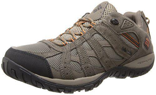 61b8fc5b Columbia Men's Redmond Waterproof Hiking Shoe, Pebble, Dark Ginger, 9.5 D  US.