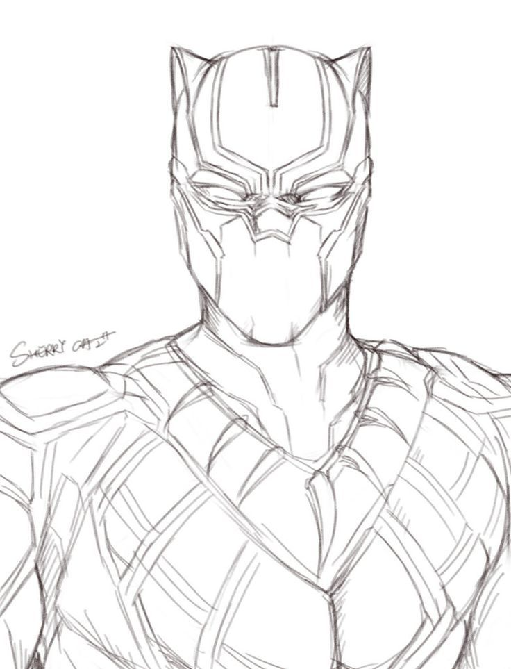 Pin by KGB on A R T lmao | Black panther drawing, Marvel ...