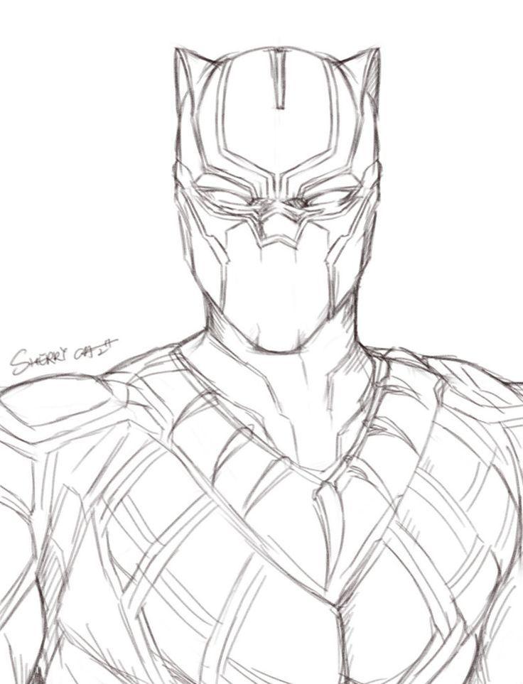 Resultado De Imagem Para Black Panther Lineart Desenho De