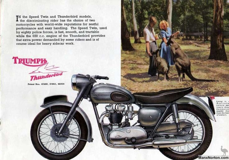 Vintage Triumph Motorcycles of the 1950s at Sheldons EMU