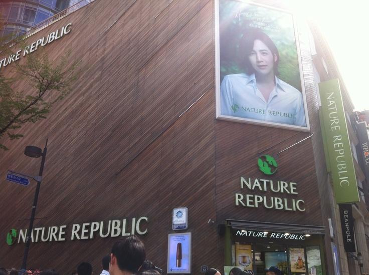 Nature Republic shop at myeongdong