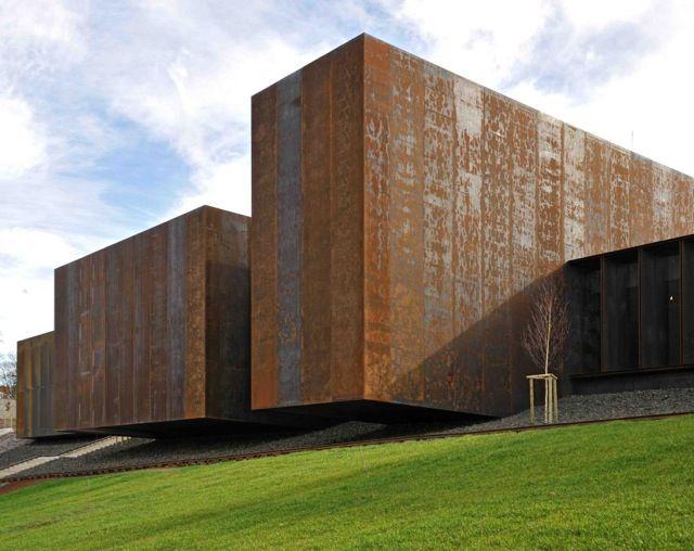RCR Arquitectes designed the Soulages Museum, opens May 31.14 in Rodez, Région Midi-Pyrénées, France. photo by Cedric Meravilles  #museum #exteriors #facades