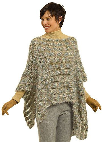 Ravelry: My First Assymetrical Poncho pattern by Berroco Design Team