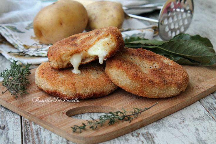 Cotolette di patate e tonno con cuor filante
