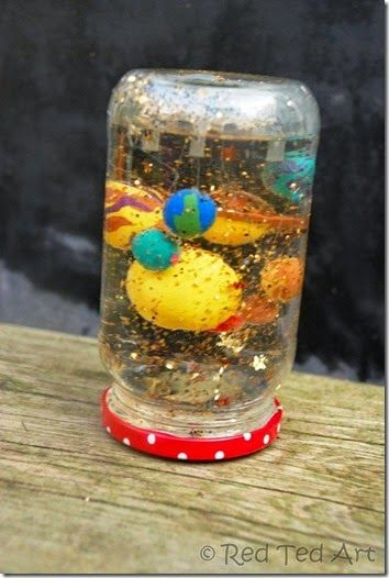 Planets Snowgloe Craft for Kids and chalk drawing of solar system... Awesome ideas!
