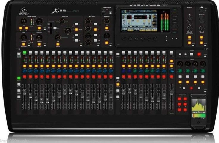 BEHRINGER 40-Input, 25-Bus Digital Mixing Console w/32 Programmable MIDAS Preamps, 25 Motorized Faders, Channel LCD's, 32-Channel Audio Interface & iPad/iPhone* Remote Control