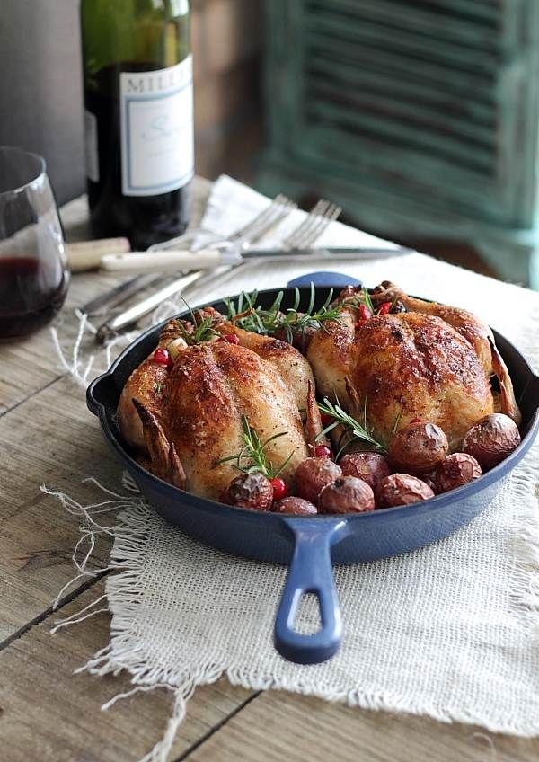 Cranberry apple stuffed cornish hens @runtothekitchen