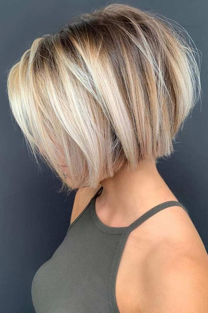 Bob With Chunky Balayage Shorthaircuts Haircuts Bobhaircut If You Are In Search For Nice S Thick Hair Styles Short Hair With Layers Haircut For Thick Hair