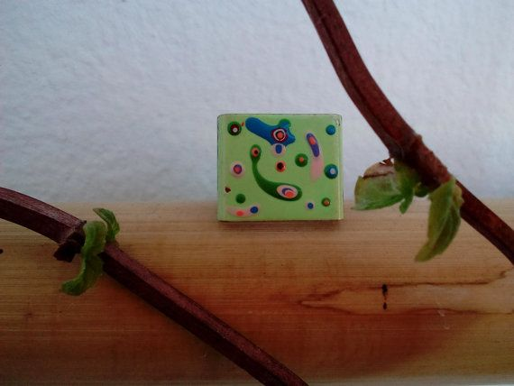 Check out this item in my Etsy shop https://www.etsy.com/listing/471546846/square-ring-miniature-painted-like-a