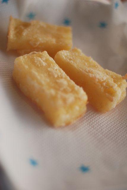 Chinese fried custard dessert -  鍋炸(炸鮮奶)