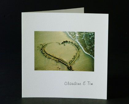 These beach wedding invitations are suitable for most destination weddings. www.kardella.com