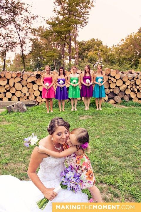 The rainbow wedding is back!  Updated in deep jewel tones