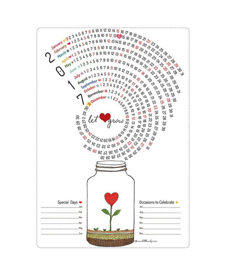 2017 Calendar - let LOVE grow!