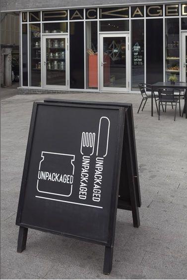 unpackaged . london, a-board, a-frame, sandwich board
