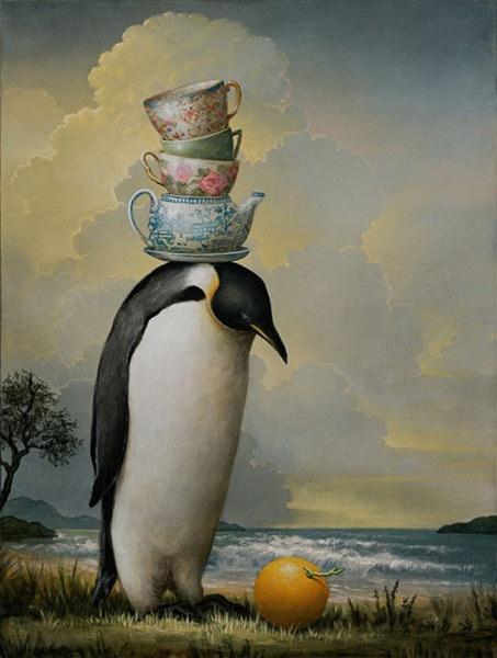 penguin tea time