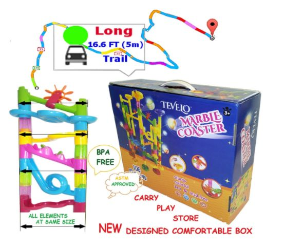14 best marble run coaster collection endless design images on marble run coaster 106 big elements kit 76 blocks30 plastic marbles tracks length fandeluxe Choice Image