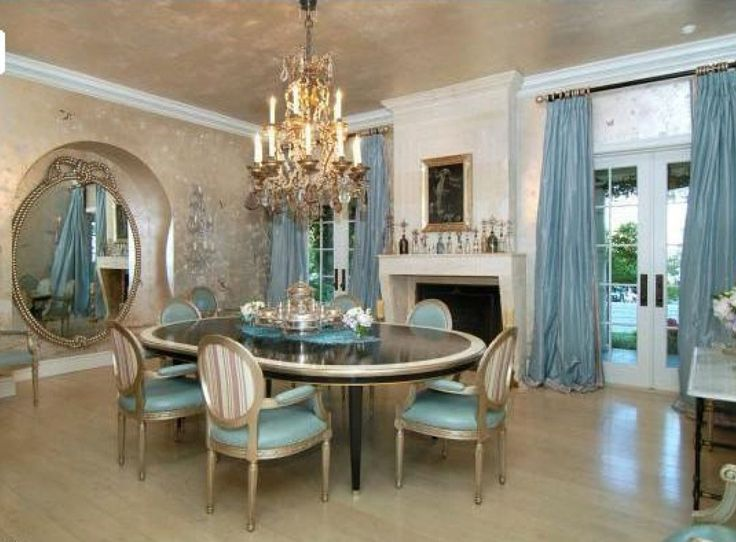 D cor for formal dining room designs blue dining rooms for Best colors for formal dining room