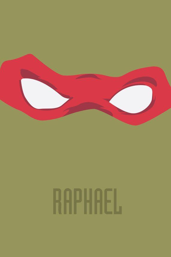 Teenage Mutant Ninja Turtles  Raphael by TheGeekEndDesigns on Etsy, $8.00