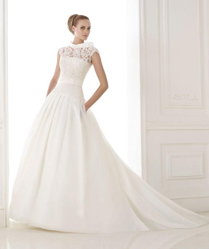 Unique Wishesbridal Pretty Illusion Chapel Train Satin Ball Gown WeddingDress Apr
