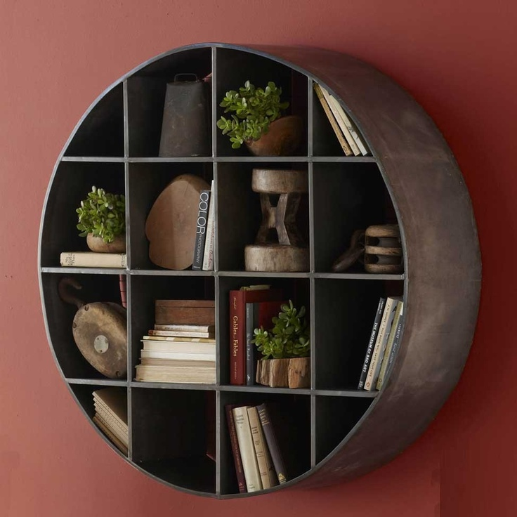 Round metal wall mount shelves things for my wall pinterest wall mount metal walls and metals - Wall metal shelf ...