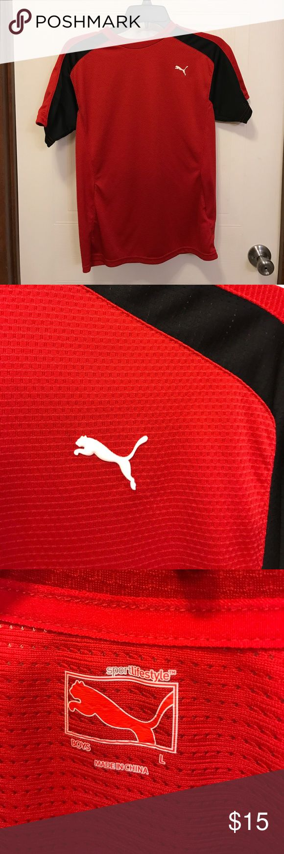 ⭐️Boys Puma Shirt Worn once. Excellent condition. Breathable material Puma Shirts & Tops