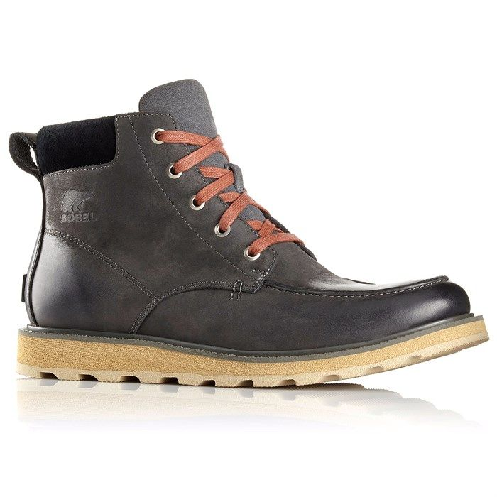 The Sorel Madson™ Moc Toe Boots check the box on all winter footwear requirements and more thanks to their waterproof nubuck leather uppers, impenetrable molded rubber outsoles, and subtle styling.