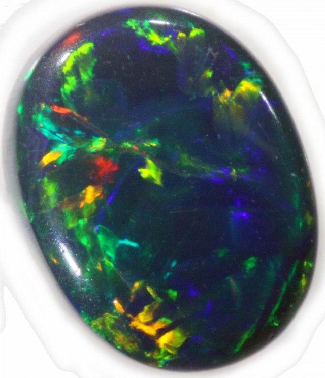 Black Opal Stones 8 x 7 x 3mm 1.24 carats Auction #628199 Opal Auctions