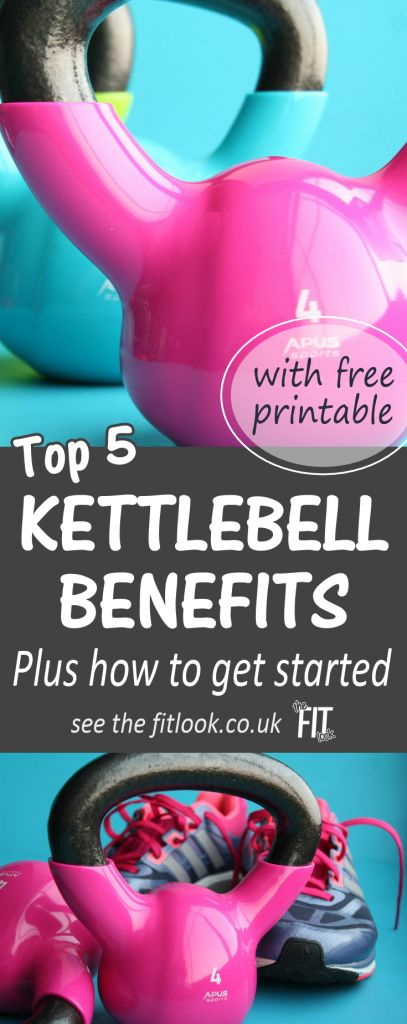 Working with kettlebells can burn fat, tone muscles and improve endurance, balance and agility. 5 top #kettlebell benefits, plus buying and user guide