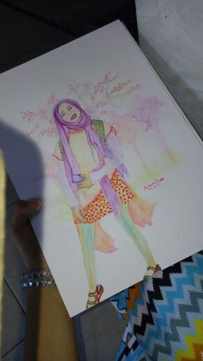 I hope that someday I can be like a model that my drawing:)