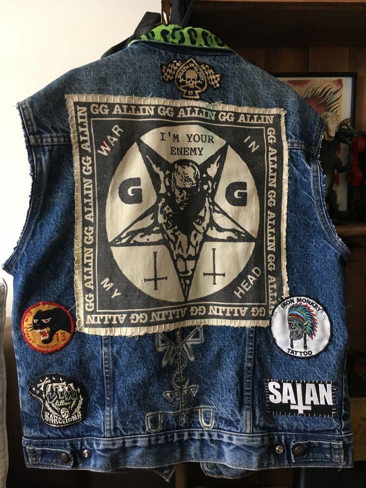 Pin on DIY Punk/crust/grunge/horror/psychobilly aesthetic