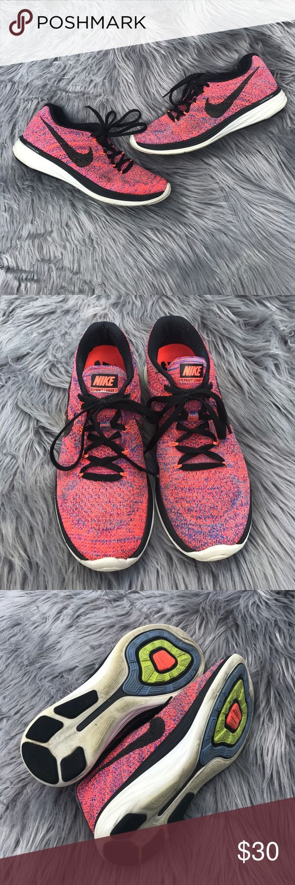 Women's Nike Flyknit Lunar 3 Great used condition! Nike Shoes Athletic Shoes