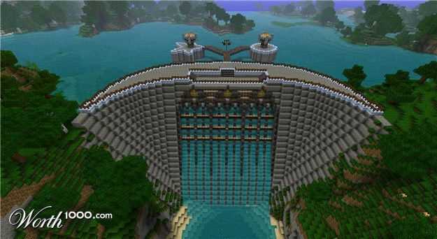 Really Cool Minecraft Dam. Fantasy - Worth1000 Contests.