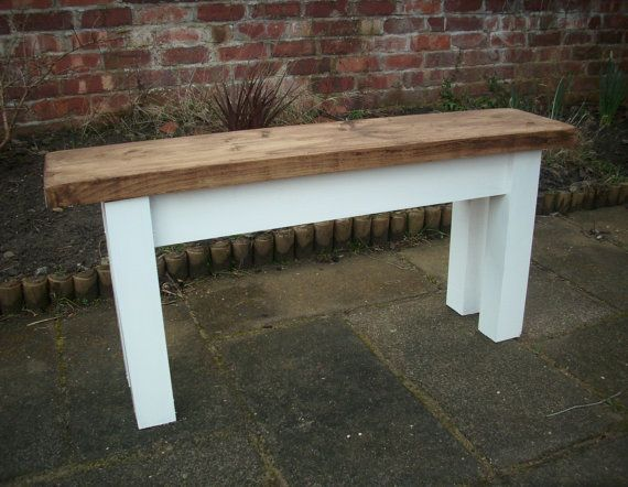 Rustic Pine Dining Bench Bespoke Rustic Pine Plank Hallway Kitchen Dining  Table .