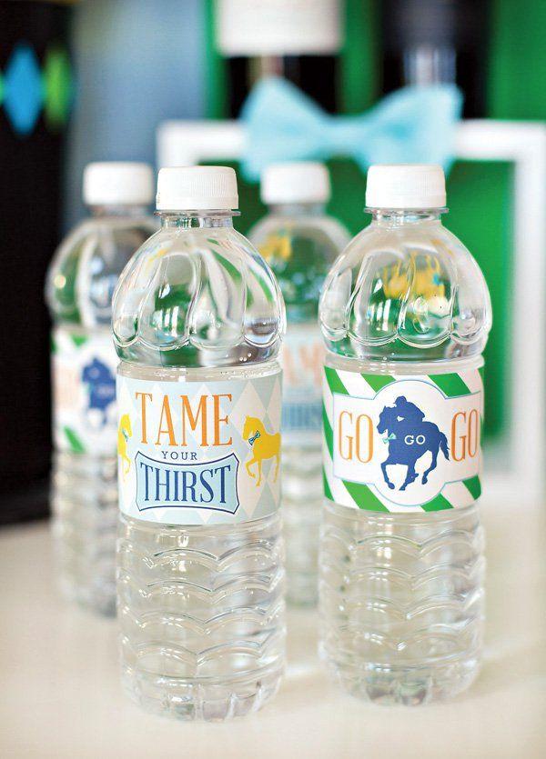 free Kentucky Derby water bottle labels - HWTM