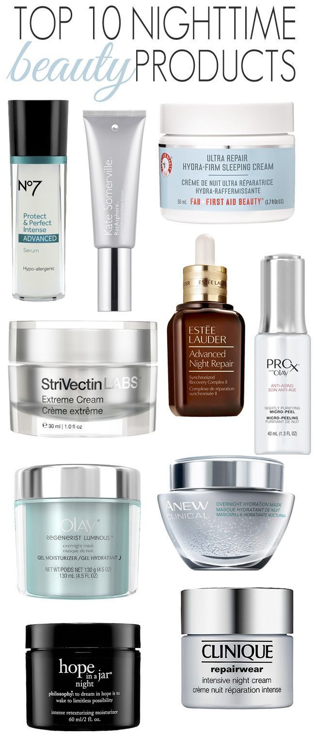 Top 10 Nighttime Beauty Products.