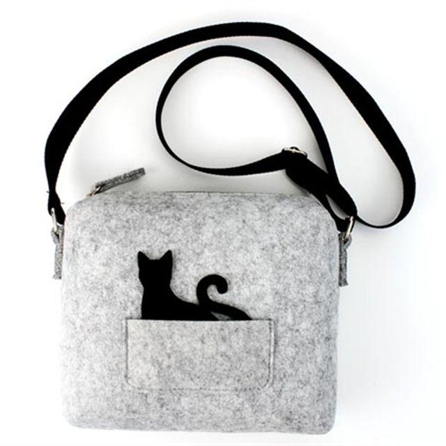 2016 НОВЫЙ Дизайнер Бренда милый маленький сумка, дамская сумочка, девушка кошка смешно мешок, Зеленый мешок кроссбоди женщины вестник мешки подарок