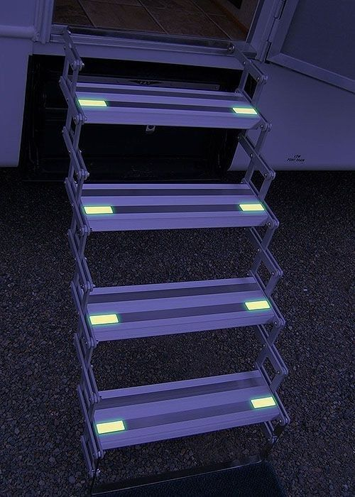 Add glow-in-the-dark tape to your stairs at night. 37 RV Hacks That Will Make You A Happy Camper | Fascinating Places To Travel