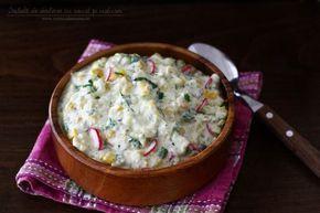 Salată de dovlecei cu iaurt și usturoi