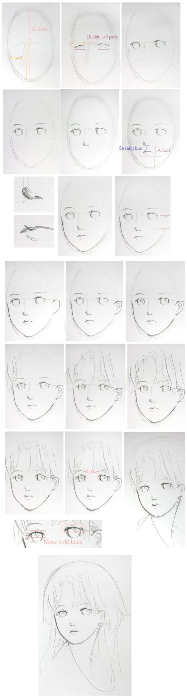 #Drawing | #Anime | #Manga | #Tutorial | #Face