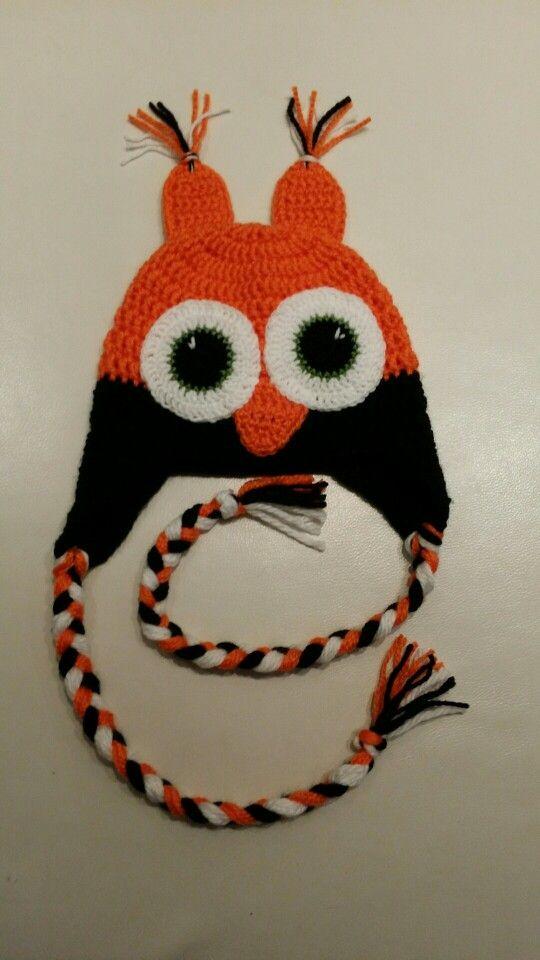 Crochet owl hat / szydełkowa sówka dla chłopca