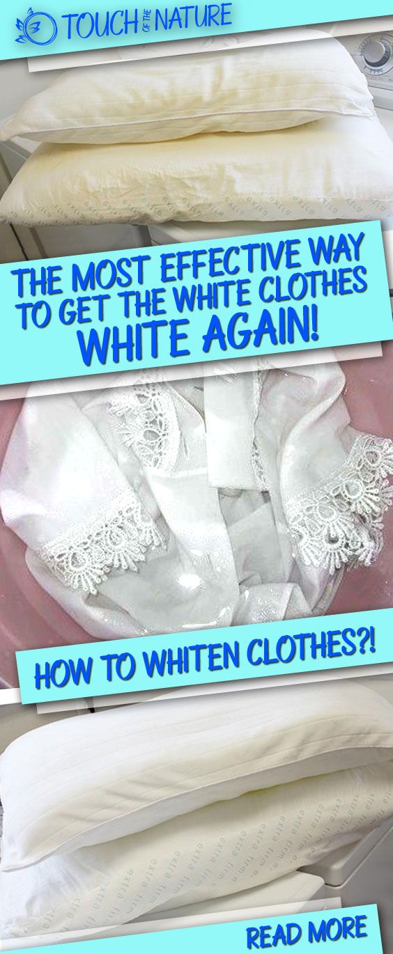 How To Whiten Clothes: This Is The Most Effective Way To Get The White Clothes White Again!