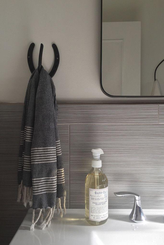 Cotton Turkish Pestemal Hand Towel, Charcoal