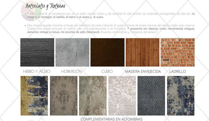 Textura características del estilo industrial
