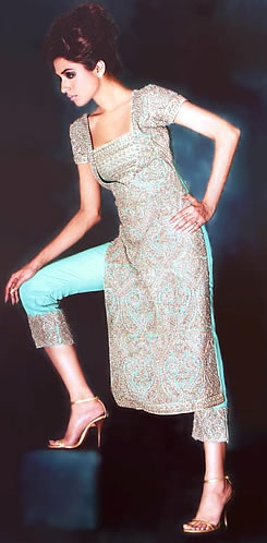 shalwar kameeze, LOVE THE PANT LEGS!