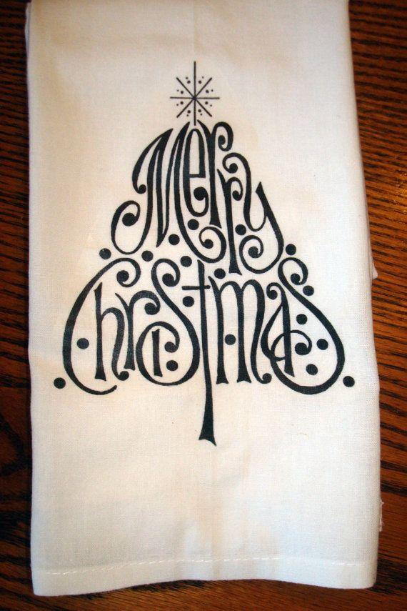 Flour Sack Kitchen Towel (Christmas)                              …