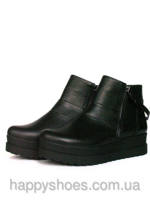 Ботинки на платформе женские черные, фото 1